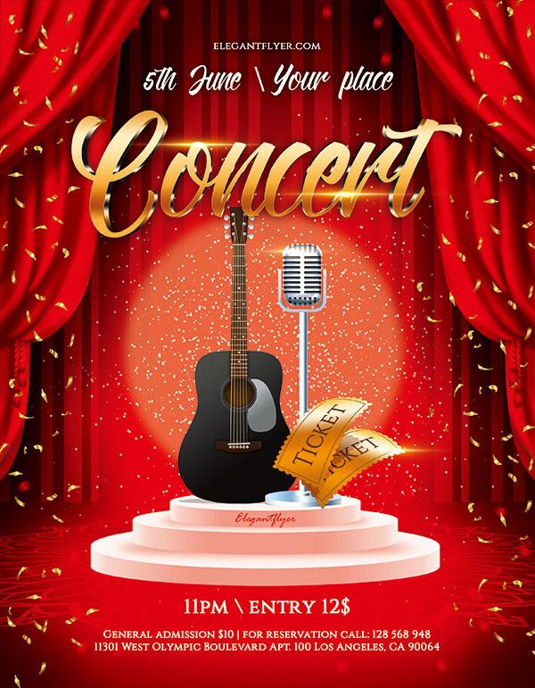 6 点 关键词: 红色喜庆音乐会海报psd分层素材,帷幔,舞台幕布,舞台