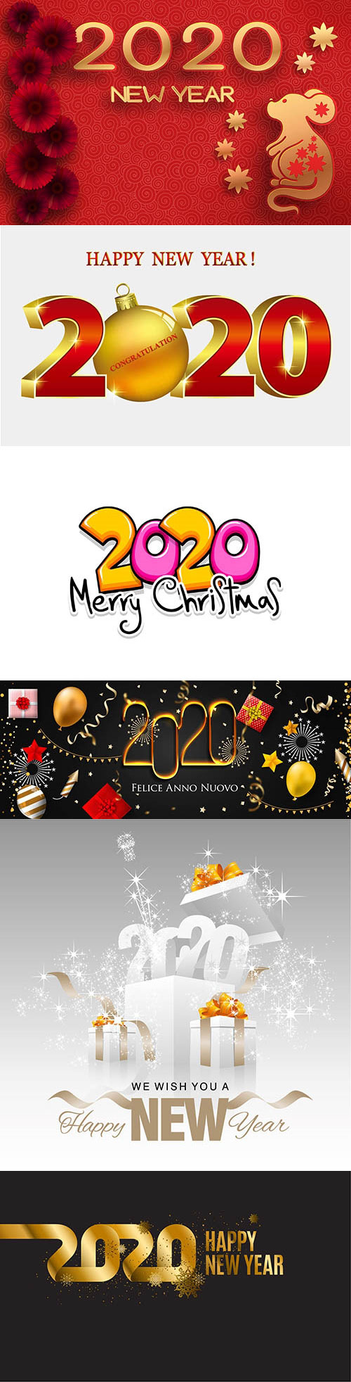 圣诞节与鼠年背景