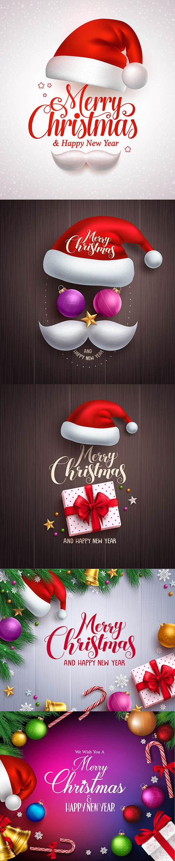 圣诞帽与圣诞球