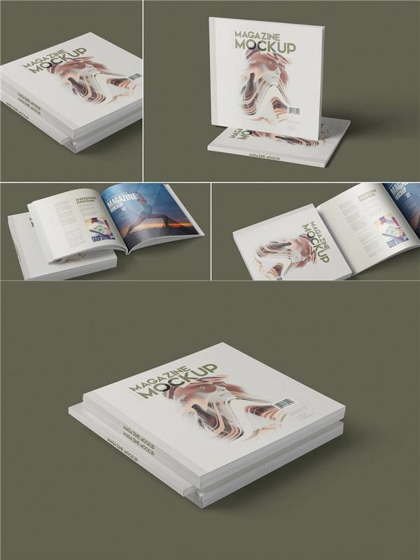 方形书籍装帧样机