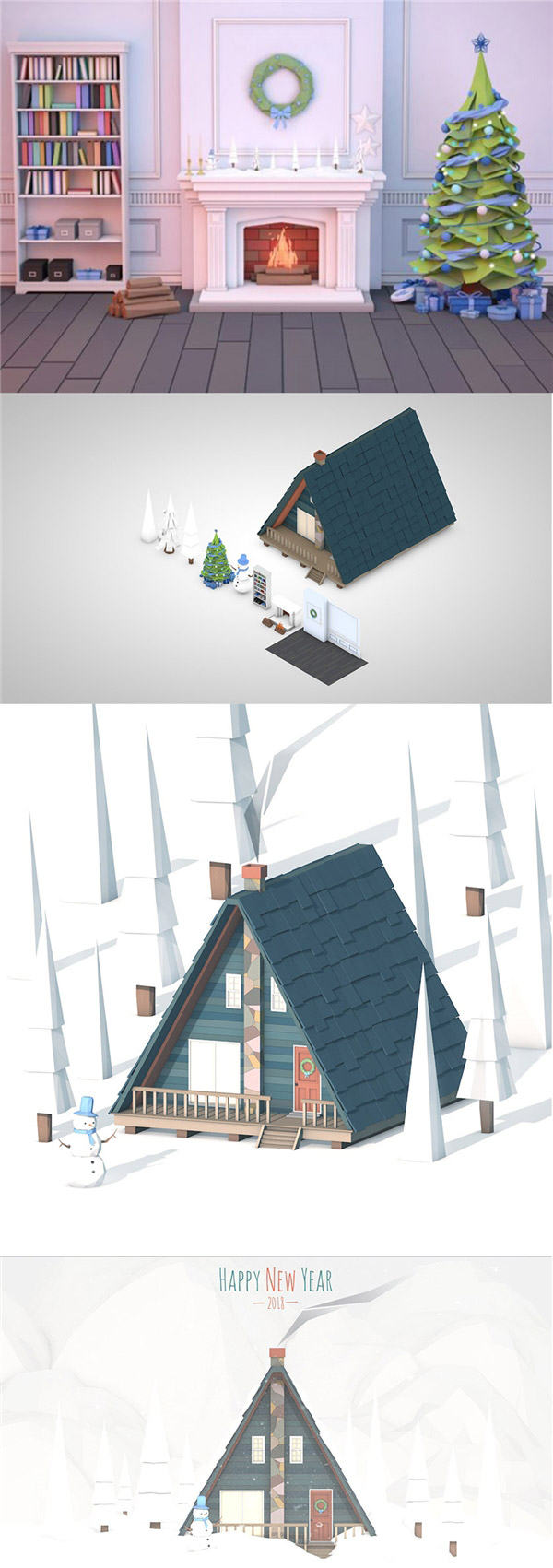 圣诞趣味场景模型