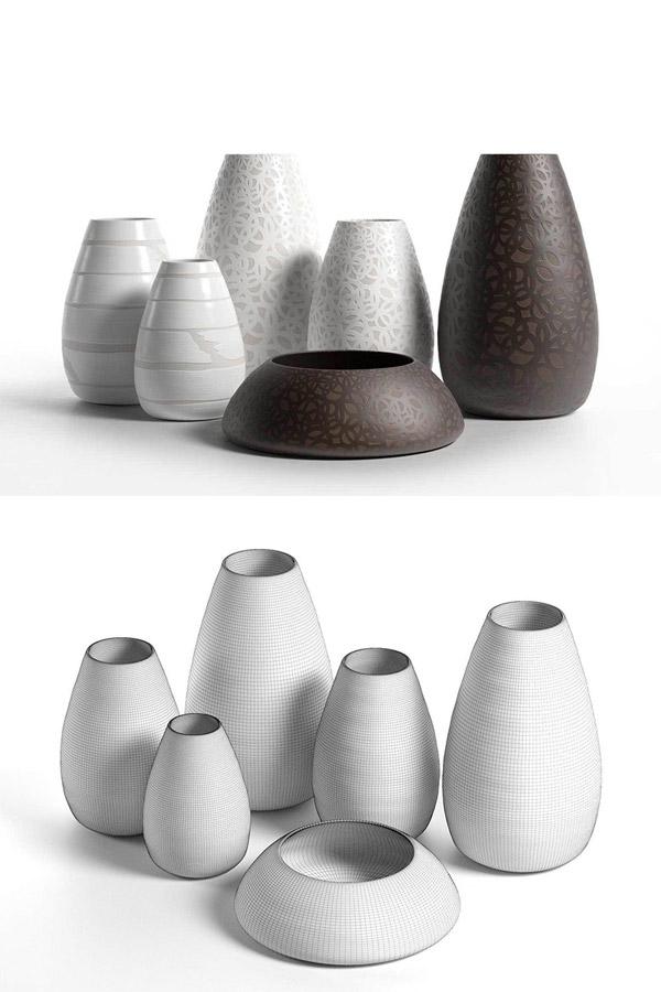 瓷器花瓶3D模型