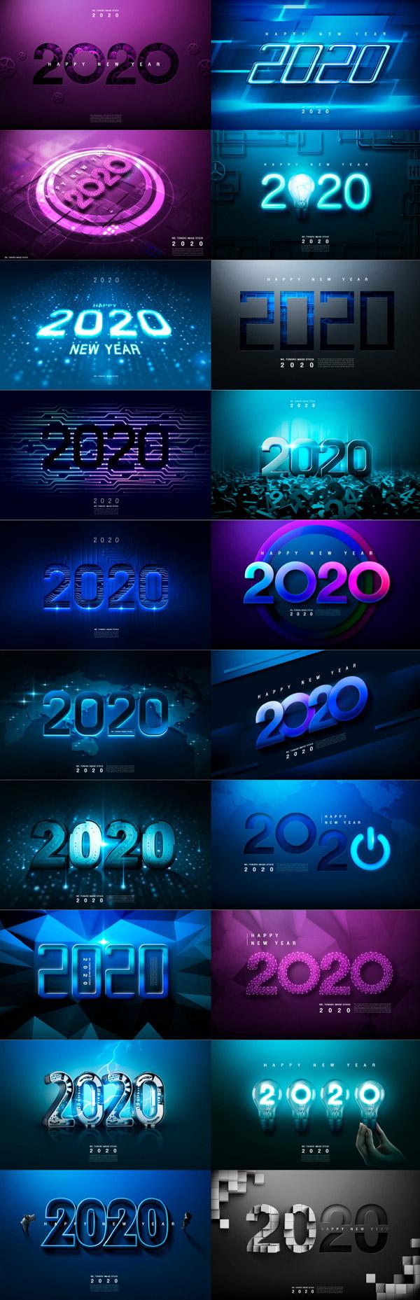 2020新年字�w