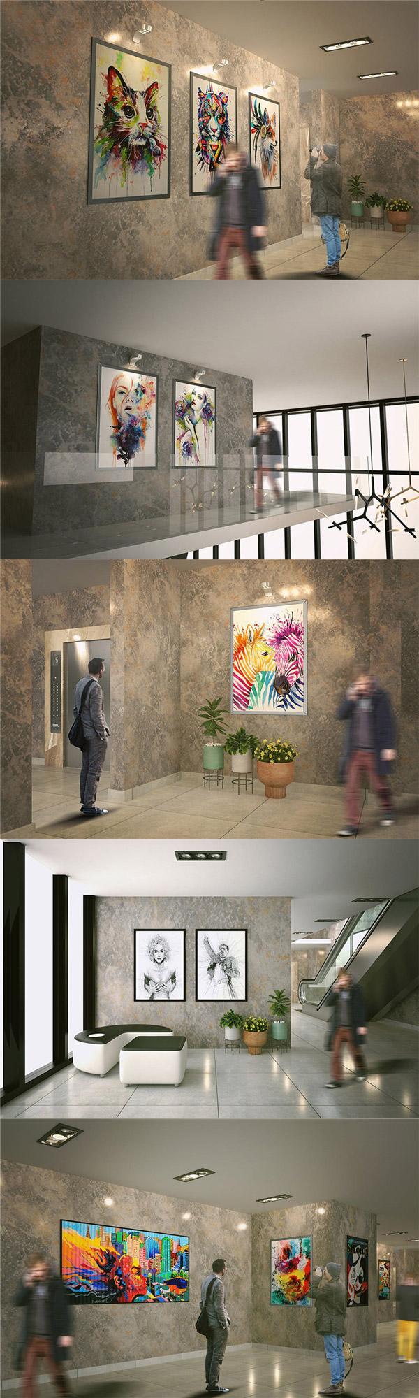 展厅绘画展示样机