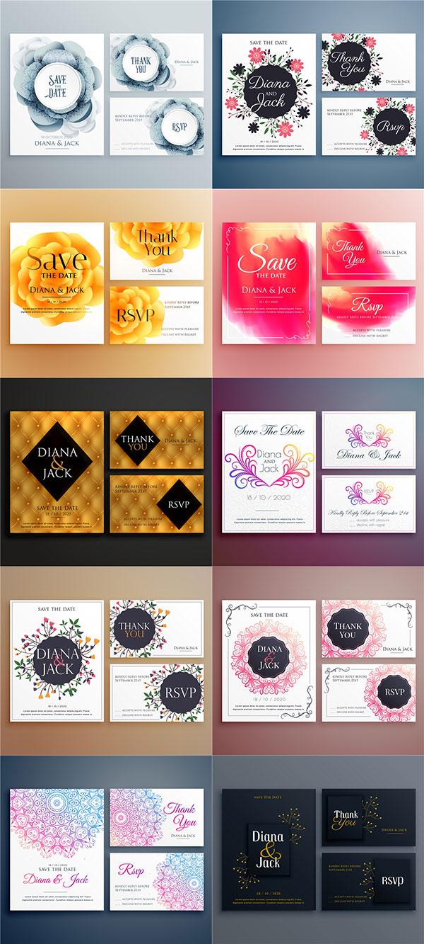 花卉装饰邀请卡片