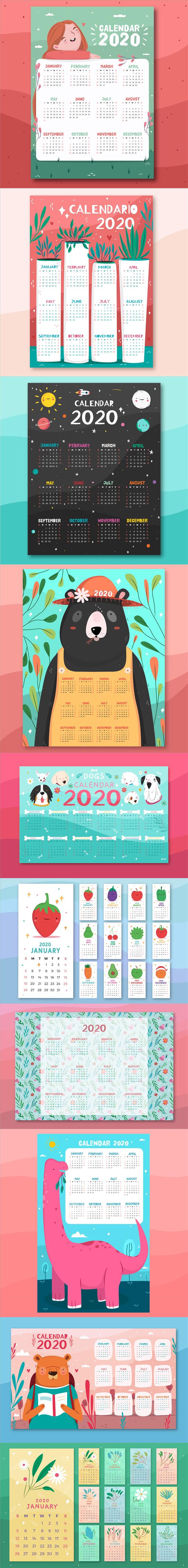 2020年卡通月历