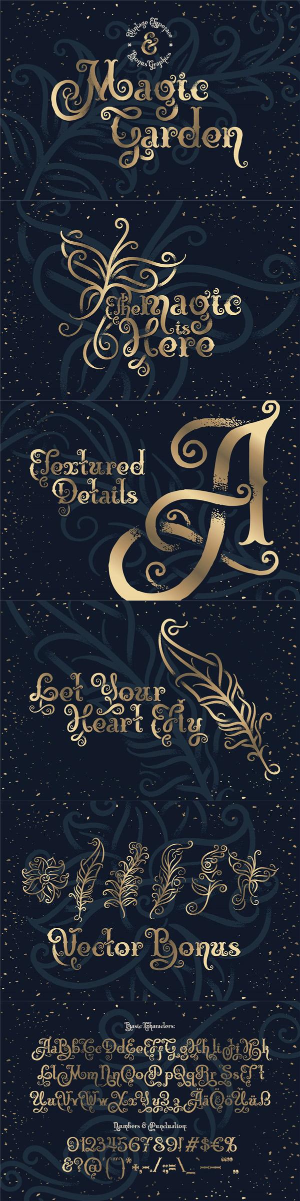 魔法花园字体