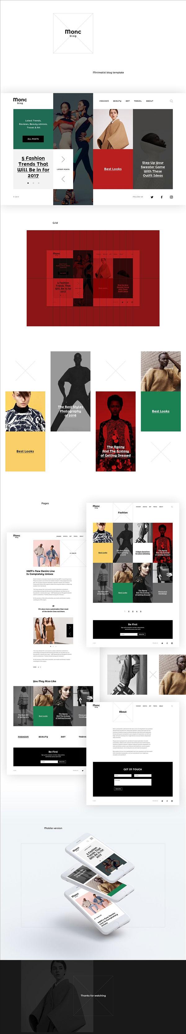 时尚高端网站模板