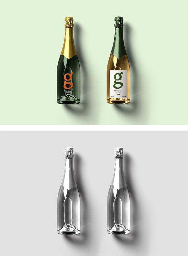 香槟酒瓶样机