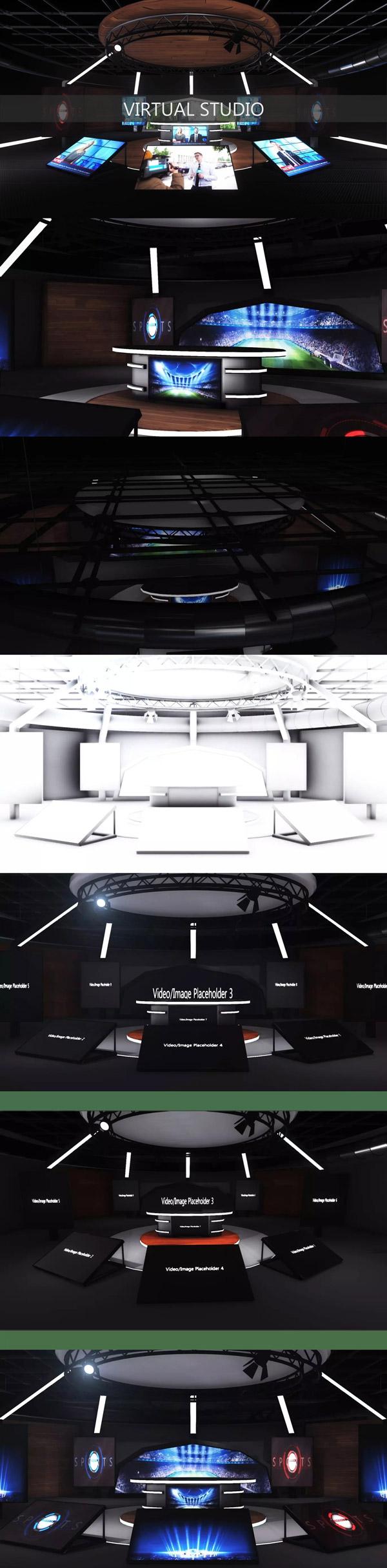 演播室3D模型