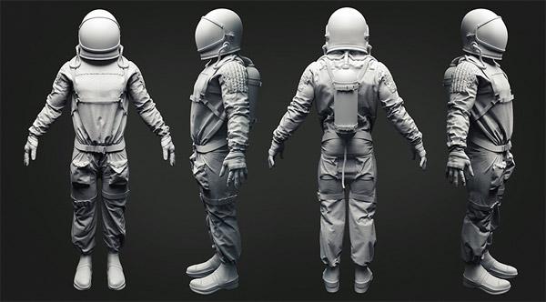 宇航服C4D模型