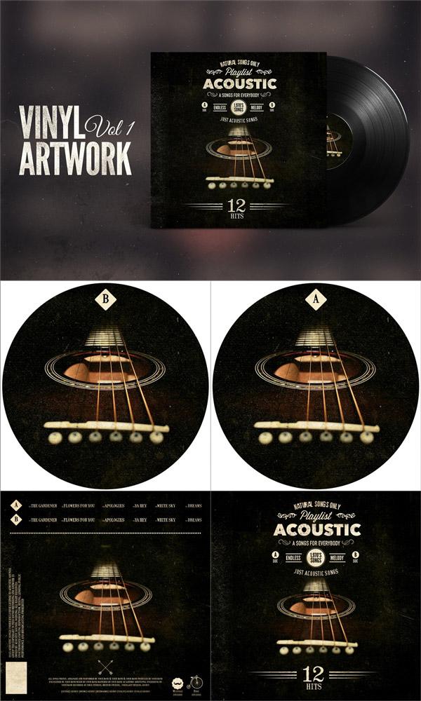复古黑胶唱片设计