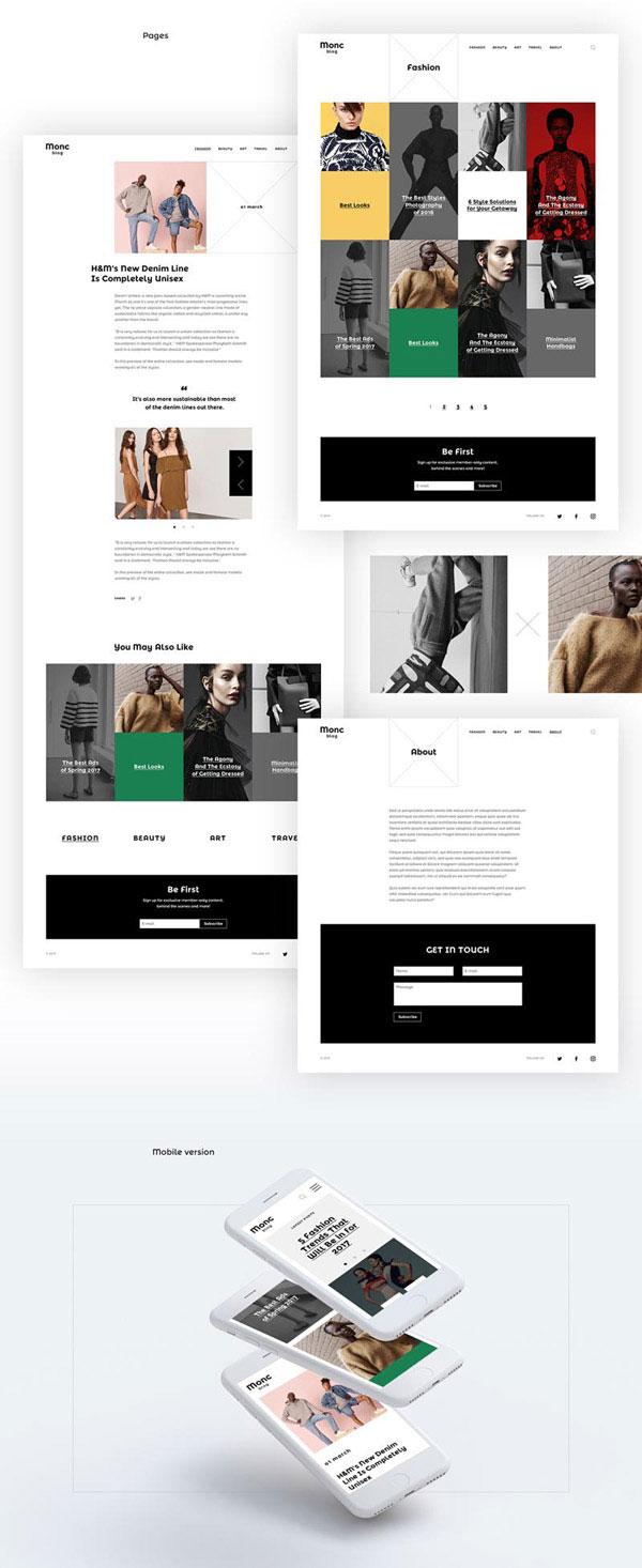 服装网页模板