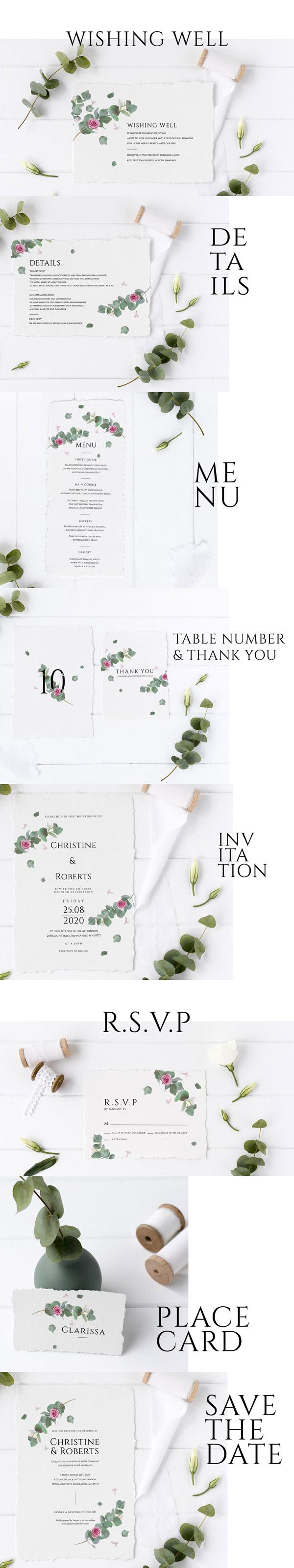 婚礼邀请设计套装