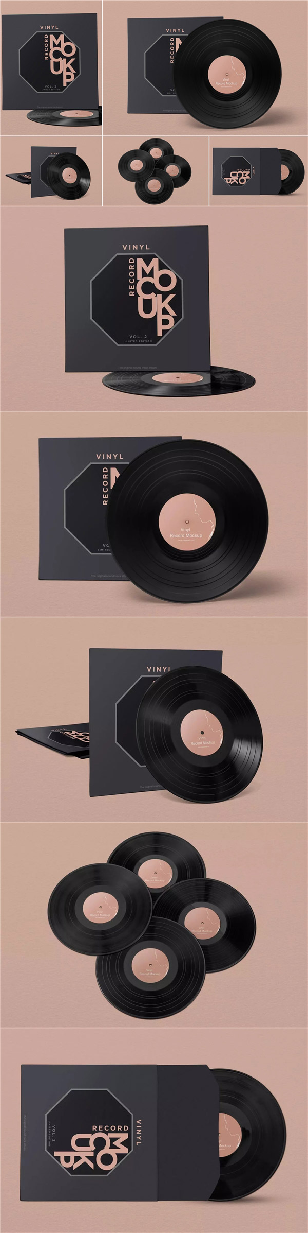 黑胶唱片包装样机