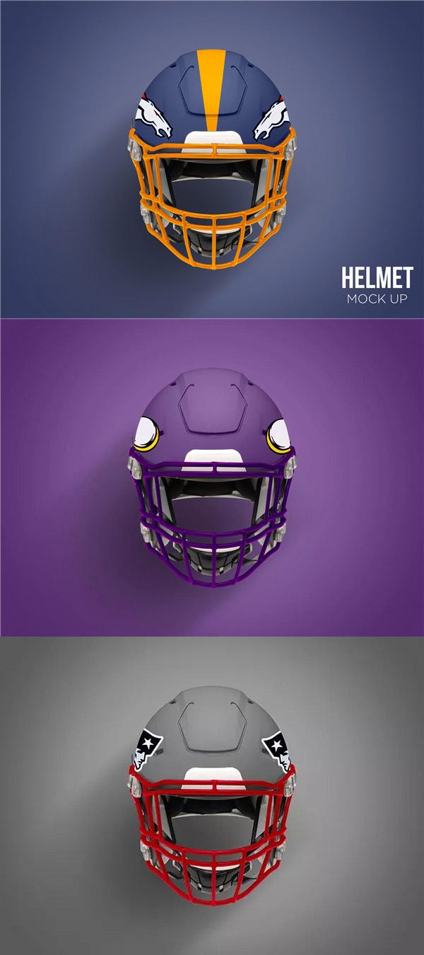橄榄球头盔样机