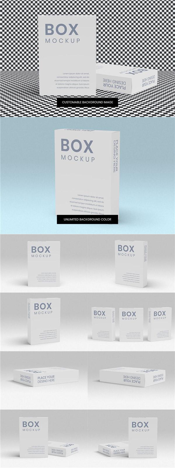 软件包装盒样机