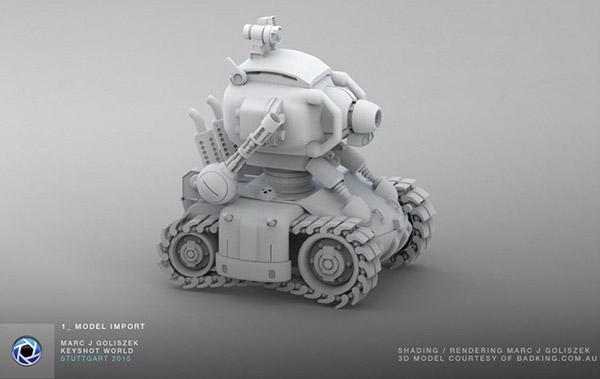 弹头坦克3D模型