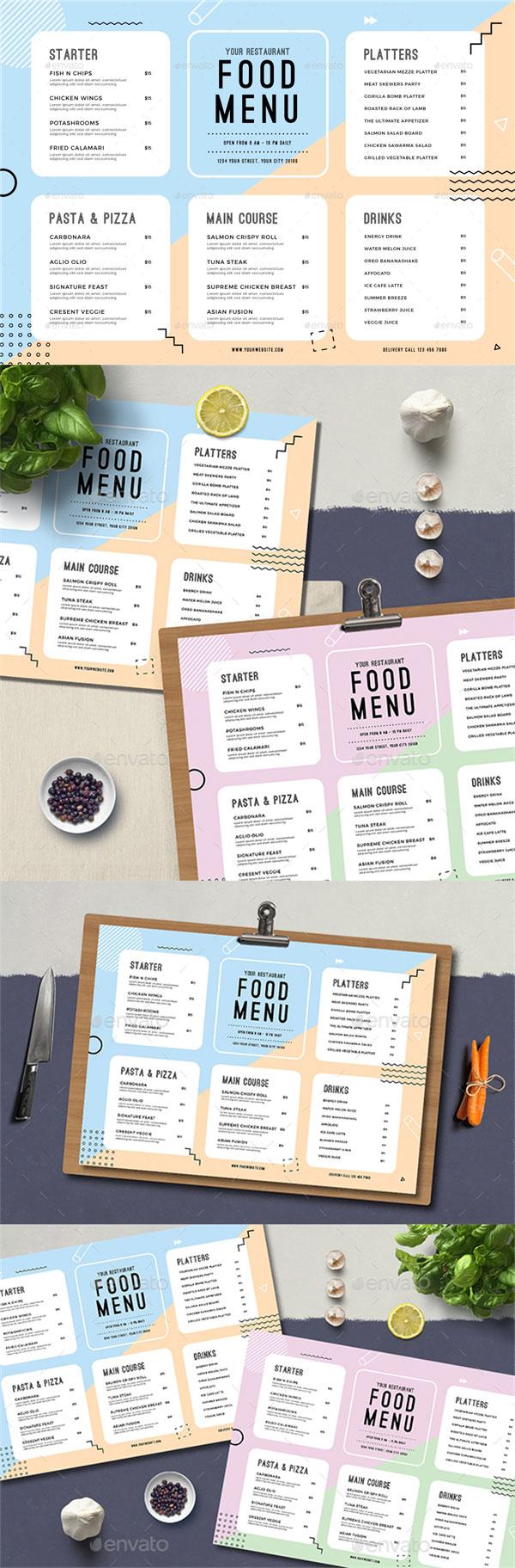简约手绘菜单