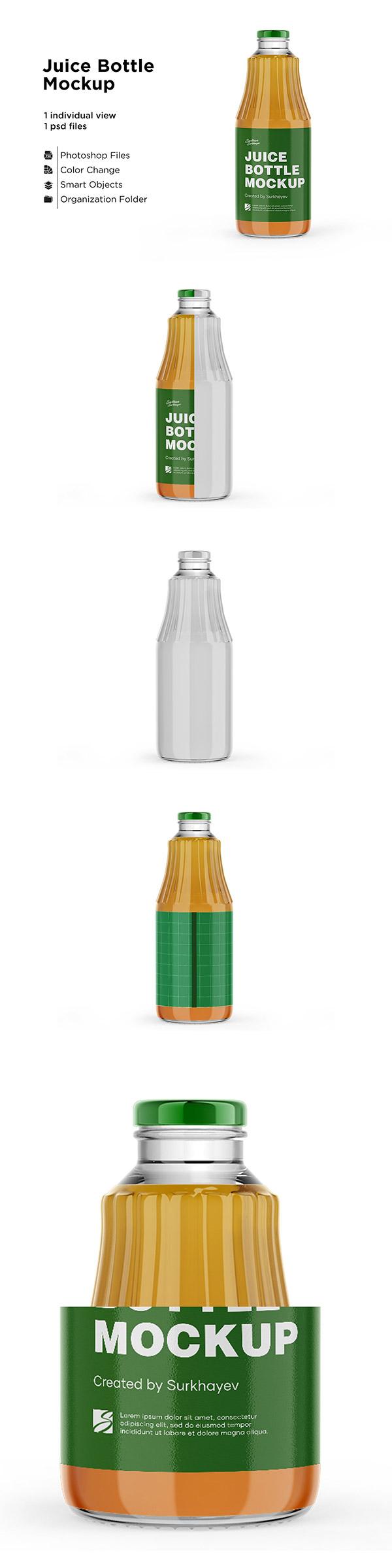 饮料玻璃瓶标签样机