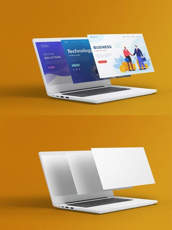 笔记本电脑屏幕样机