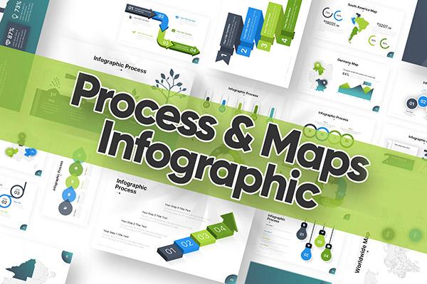 信息图表地图PPT模板