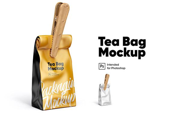 木夹子茶叶袋包装样机