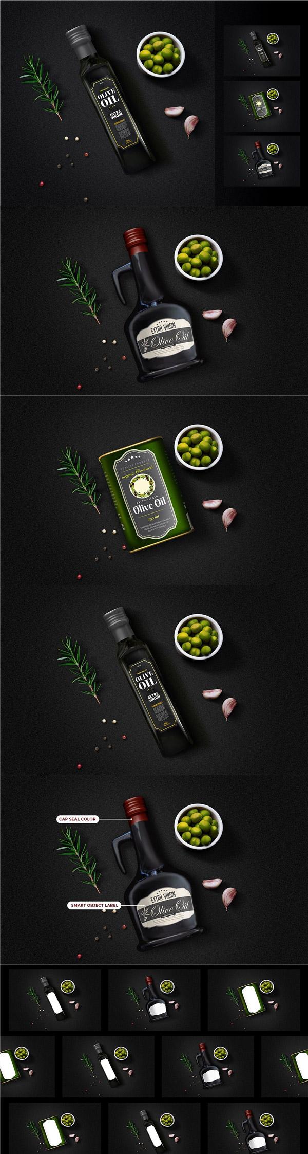 橄榄油包装标签样机