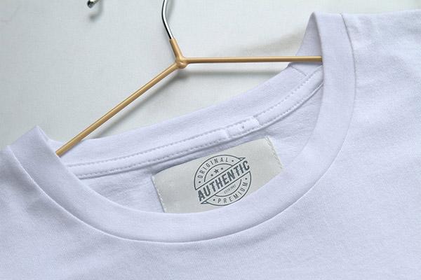 T恤服装品牌标签样机