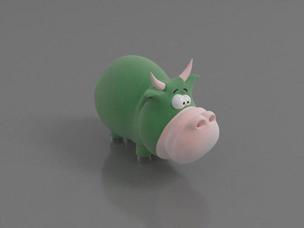 儿童小牛玩具模型