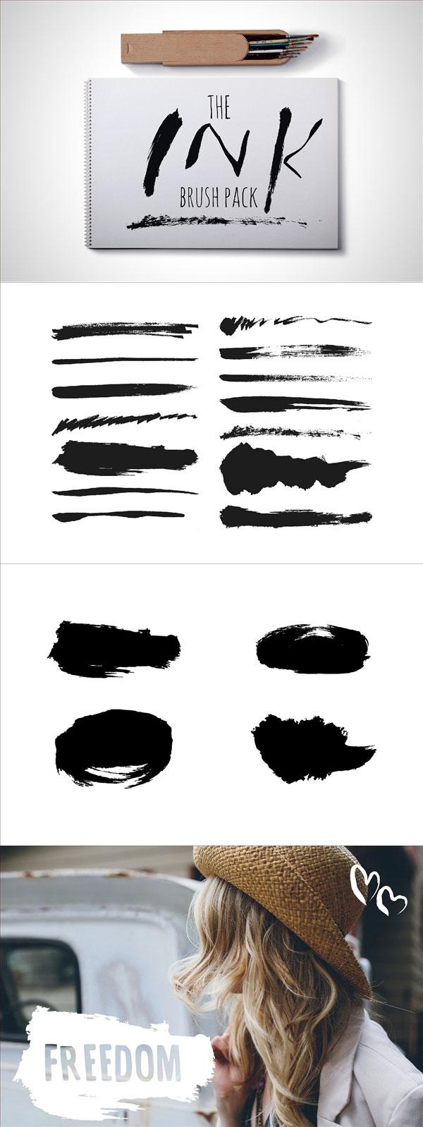 水墨笔刷背景