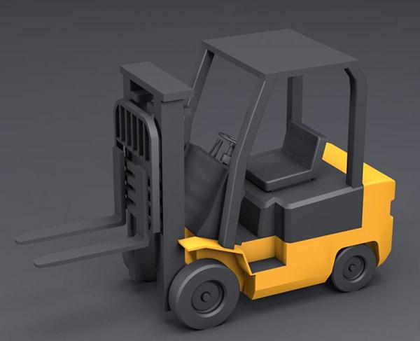 卡通叉车模型
