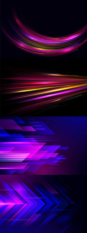 多彩几何元素抽象背景