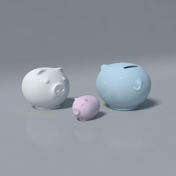 小猪存钱罐3D模型
