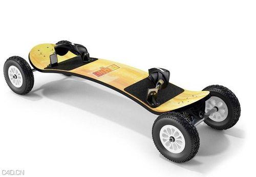 时尚滑板车C4D模型