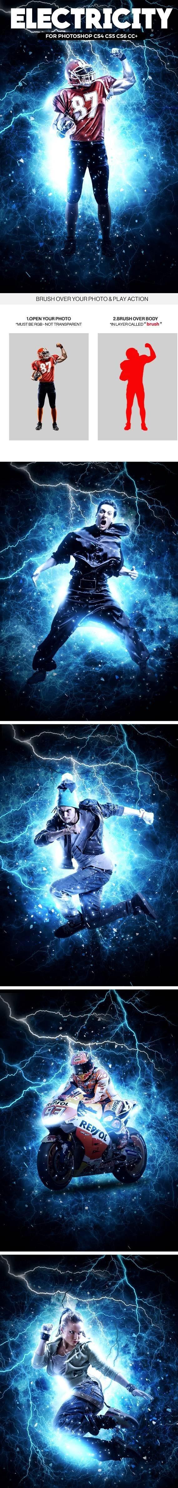 闪电特效PS动作