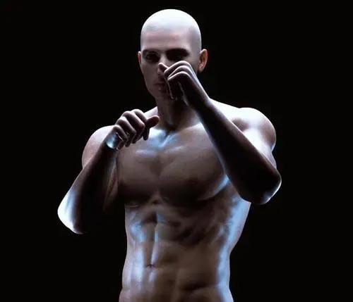 肌肉男模型