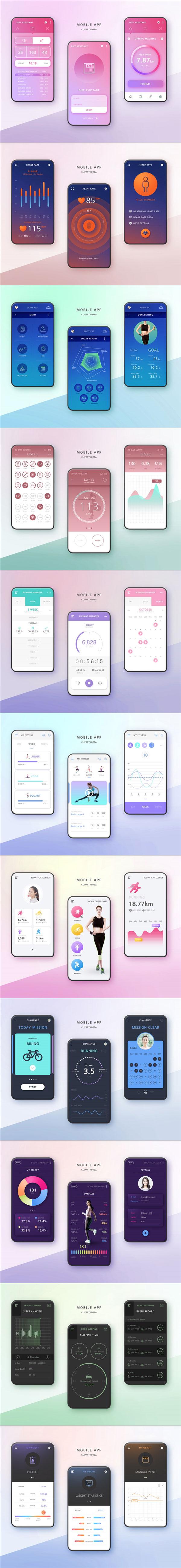 健身主题UI界面