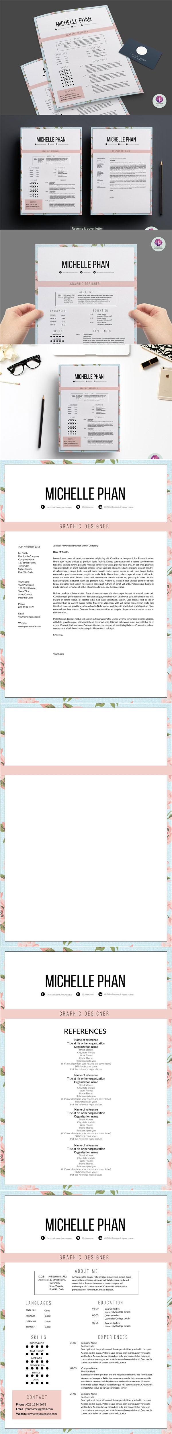 花卉简历模板