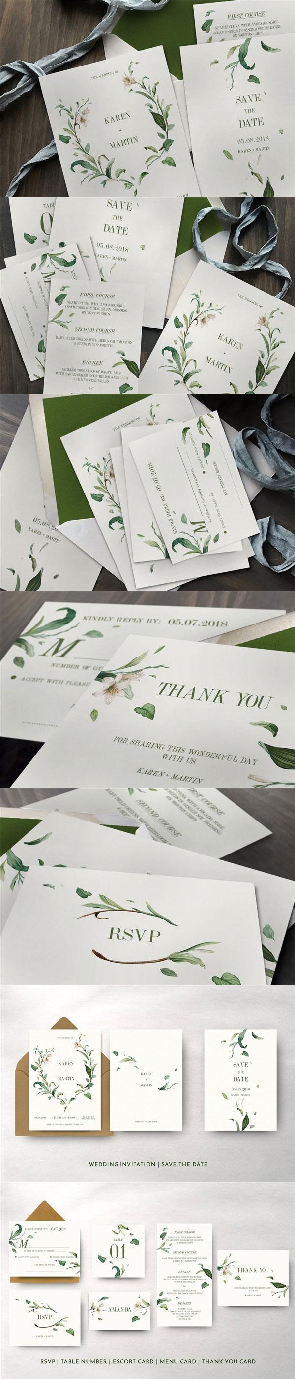 绿叶婚礼物料