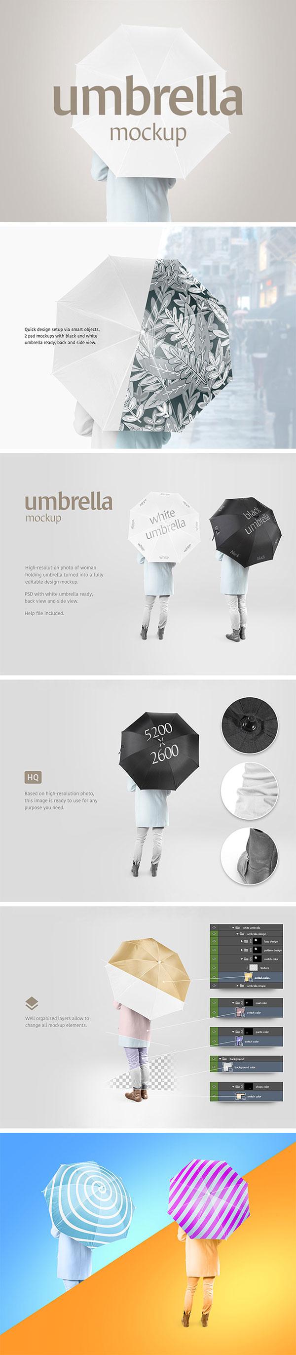 高端雨伞样机
