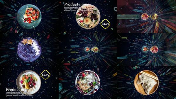 食物菜单AE模板