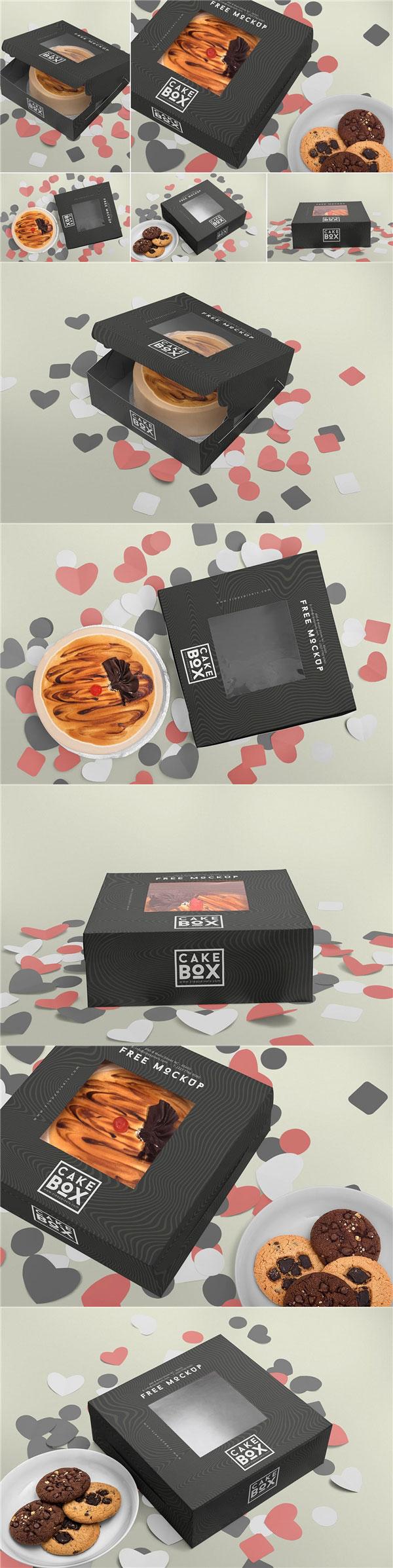 蛋糕盒包装样机