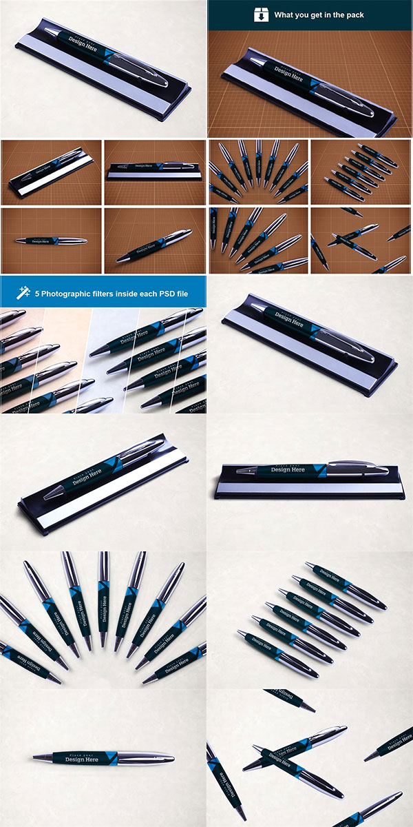 钢笔盒包装样机