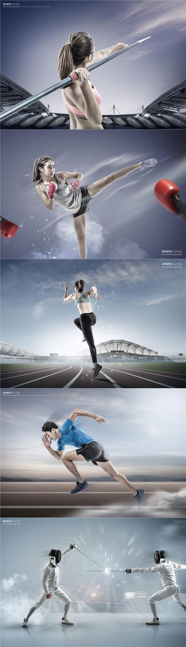 运动人物海报
