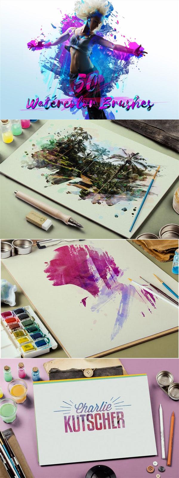 水彩数码绘画PS笔刷