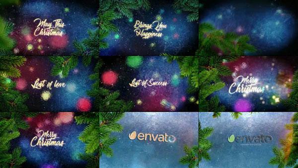 圣诞节问候视频模板