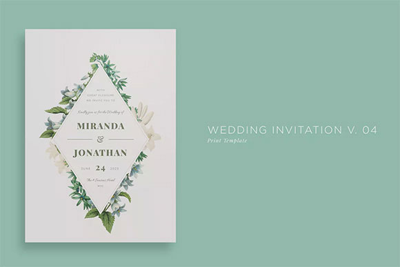 简约婚礼邀请函