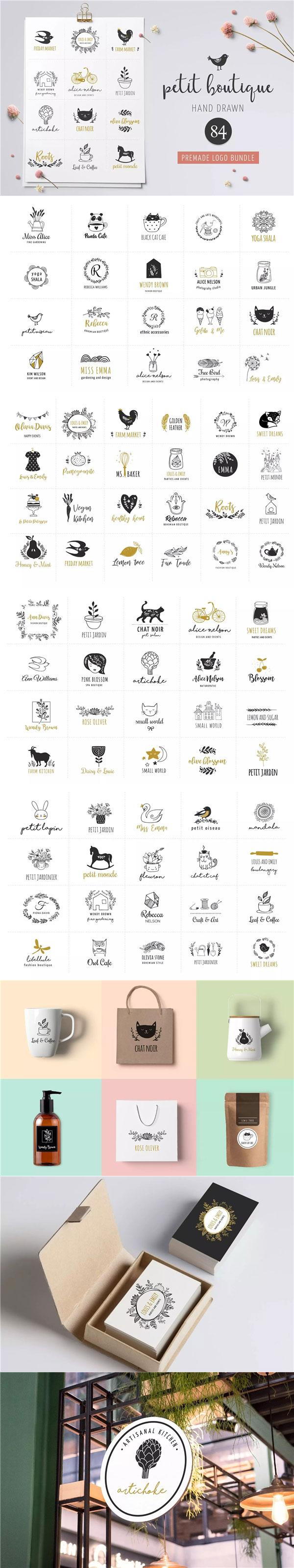 84个手绘标志