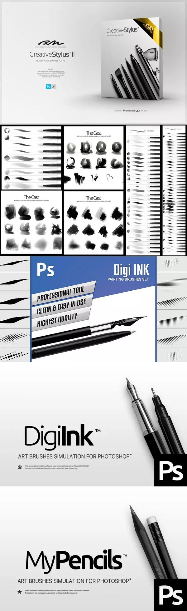 PS笔刷和设置合集